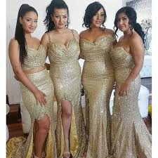 gold sequin mismatches bridesmaid dresses cheap popular wedding