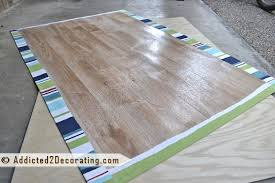 diy make an easy floor cloth in 60 minutes or less