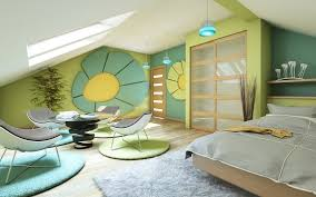 Green And Blue Bedrooms - 33 attic room ideas and designs modern u0026 classic photos