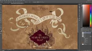Harry Potter Marauders Map Speed Art Marauder U0027s Map Wallpaper Youtube