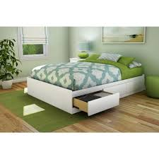 King Size Platform Bed Plans With Drawers by White Queen Bed With Storage Platform Storage Bed W Bookcase