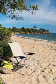 Fully Reclining Beach Chair Amazon Com Lafuma Low Elips Alu Brut Aluminum Frame Ocean