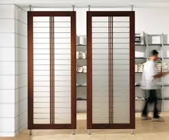 sliding transparent screen ikea room dividers with brown framed and temporary wall ideas basement jpg