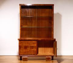 Display Cabinet Vintage Vintage Art Deco Style Walnut Display Cabinet For Sale At Pamono