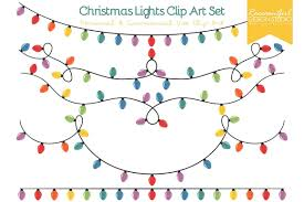 Colored Christmas Lights by Colored Christmas Lights Clipart Free Colored Christmas Lights