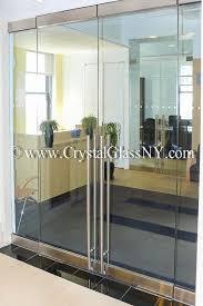 store front glass doors herculite double doors with sidelights storefront installation