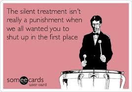 Silent Treatment Meme - 7 the silent treatment ecard pmslweb
