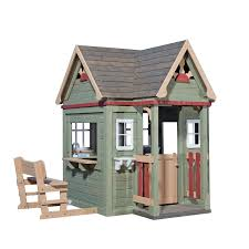 cedar playhouses kids outdoor wood building kit victorian inn
