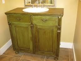 Refurbished Bathroom Vanity Antique Sideboard Used As Bathroom Vanity Eclectic Refurbished