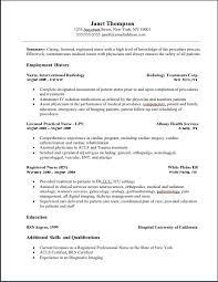 Graduate Nurse Resume Example by Download Oncology Nurse Resume Haadyaooverbayresort Com