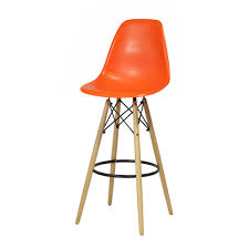 Eames Style Chair by Charles Eames Dsw Stool In Orange The Khazana Home Austin