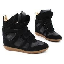 womens boots velcro high tops s velcro wedge heels ankle sneakers b
