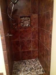 river rock bathroom ideas new shower with river rock bathroom redo pinterest bathroom
