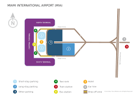 Map Of Miami International Airport by Miami International Airport Lufthansa Travel Guide
