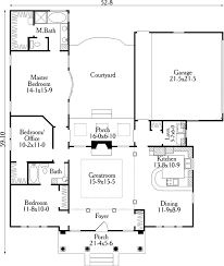 Home Plans With Courtyards Small U Shaped House Plans First Floor Plan Of House Plan 40027