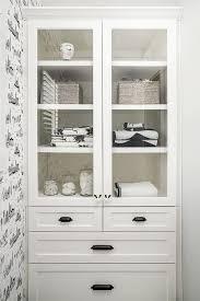 white linen cabinet with doors built in linen cabinet design ideas