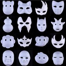 unpainted masks hot white unpainted mask plain blank version paper pulp mask