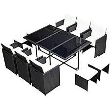 Black And White Patio Furniture Amazon Com Mcombo 11 Pcs Luxury Black Wicker Patio Indoor Outdoor