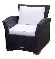 Wicker Deep Seating Patio Furniture - royal teak charleston black wicker deep seating chair with