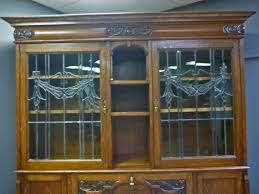 Antique Oak Secretary Desk With Hutch by Oak Secretary Bookcase With Leaded Glass