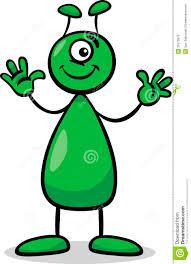 alien or martian cartoon illustration stock photo image 31670870