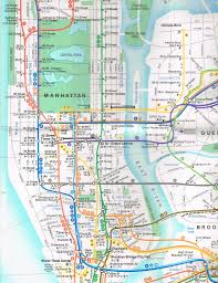 Manhattan Street Map New York City Subway Map With Streets My Blog
