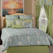 island song tropical bedding comforter ensemble surf blue green