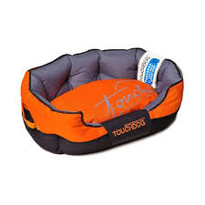 tough dog beds toughdog performance max sporty comfort cushioned dog bed orange
