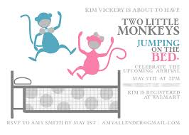 monkey invitations baby shower baby shower monkey theme for twins monkey twin baby shower