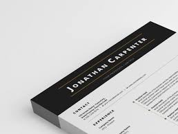 Resume Header Template Resume Template With Black Header