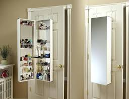 wall mounted jewelry cabinet wall mirror jewelry armoire how does a wall mount jewelry work black