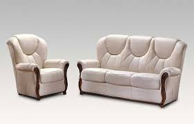 Lucca  Genuine Italian Cream Leather Sofa Suite Offer - Cream leather sofas