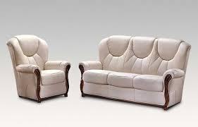 Lucca  Genuine Italian Cream Leather Sofa Suite Offer - Cream leather sofas
