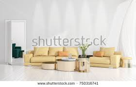 livingroom in brown orange modern living room pallet stock illustration
