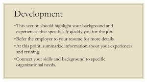 Resume For The Job by Applying For Employment Ppt Video Online Download