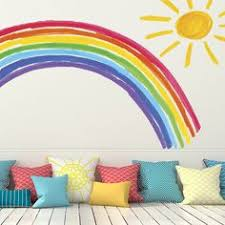 Rainbow Bedroom Decor Rainbow Swing Nursery Wall Mural Muralswallpaper Co Uk Nursery