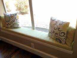 office window seat day bed building the frame arafen decoration furniture pretty diy bay window seat with colorful no sew after how to make cushions
