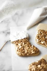 sequin christmas stocking cookie tutorial