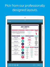 Graphical Resume Shine Resume Designer On The App Store