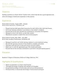 Teacher Resume Sample U0026 Complete by Homeschool Teacher Resume Http Resumesdesign Com Homeschool