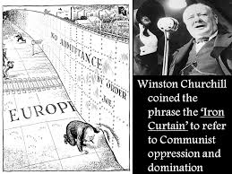 Iron Curtain Political Cartoon Origins Of The Cold War 1917 U2013 Us Rus Had Strained Relations