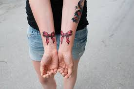 tattoo on finger bow 44 sweet bow tattoos to brighten your day