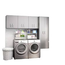 home depot laundry room wall cabinets flow wall modular laundry room storage set with accessories in