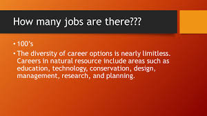 design management careers careers in natural resources how many jobs are there 100 s the