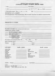 accident injury report form template lynbrook high school forms accident report