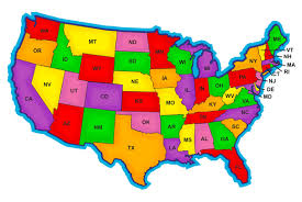 map usa color united states map coloring page of the with for color
