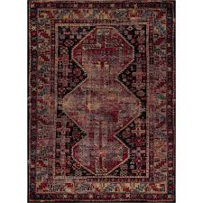 Concord Global Area Rugs Concord Global Trading Antique Black 2 Ft 7 In X 5 Ft