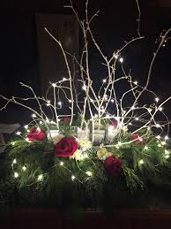 evergreen centerpieces u2013 rose and twig floral designs