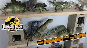 dinosaur shelf diy cinder block rack jurassic world papo