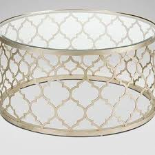 Quatrefoil Side Table Gold Side Table Tags Wonderful Quatrefoil Coffee Intended For